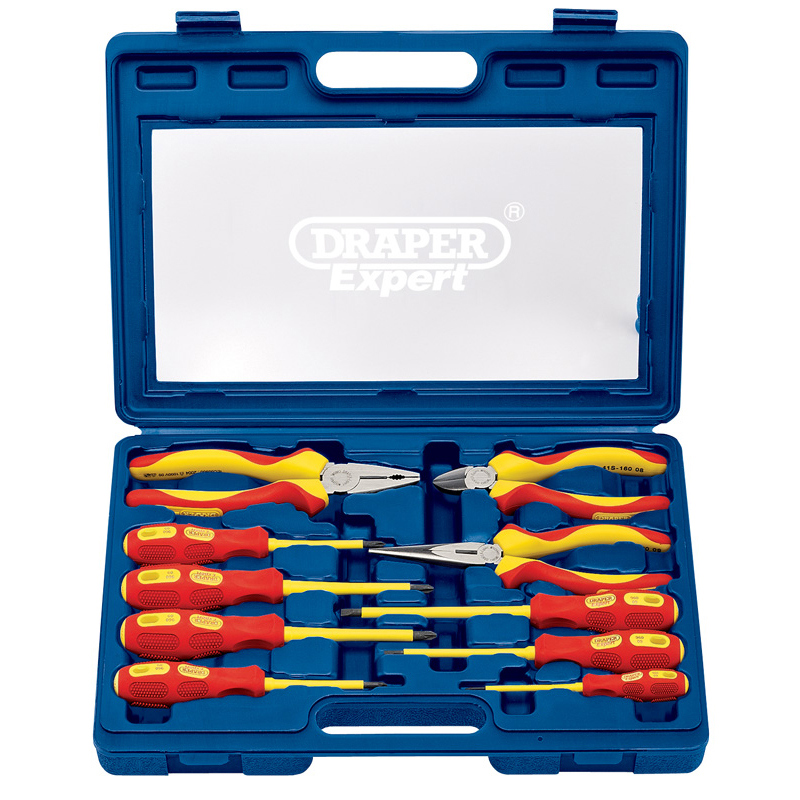 draper 09914 expert 10 piece vde approved fully insulated screwdriver and pliers set. Black Bedroom Furniture Sets. Home Design Ideas