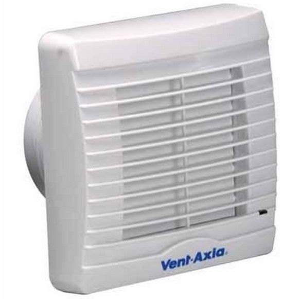 Vent Axia Va100xt Axial Bathroom Toilet Extractor Fan With Timer Overrun Facility And Shutters